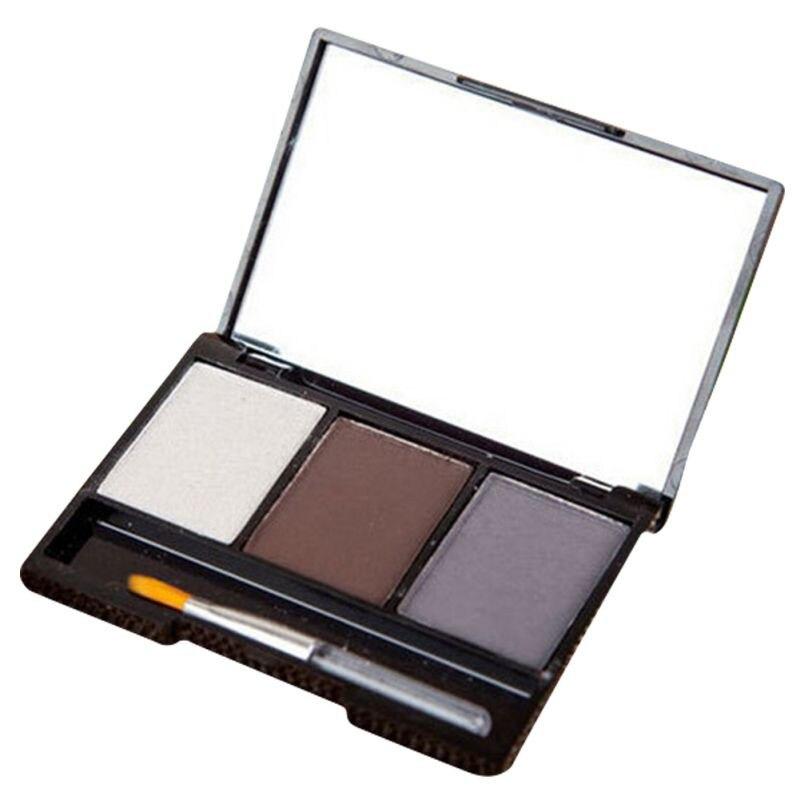 3 Colors Set Professional Makeup Eyeshadow Palette Eyebrow Makeup Palatte paleta de sombra Contour Palette Maquiagem Women 8