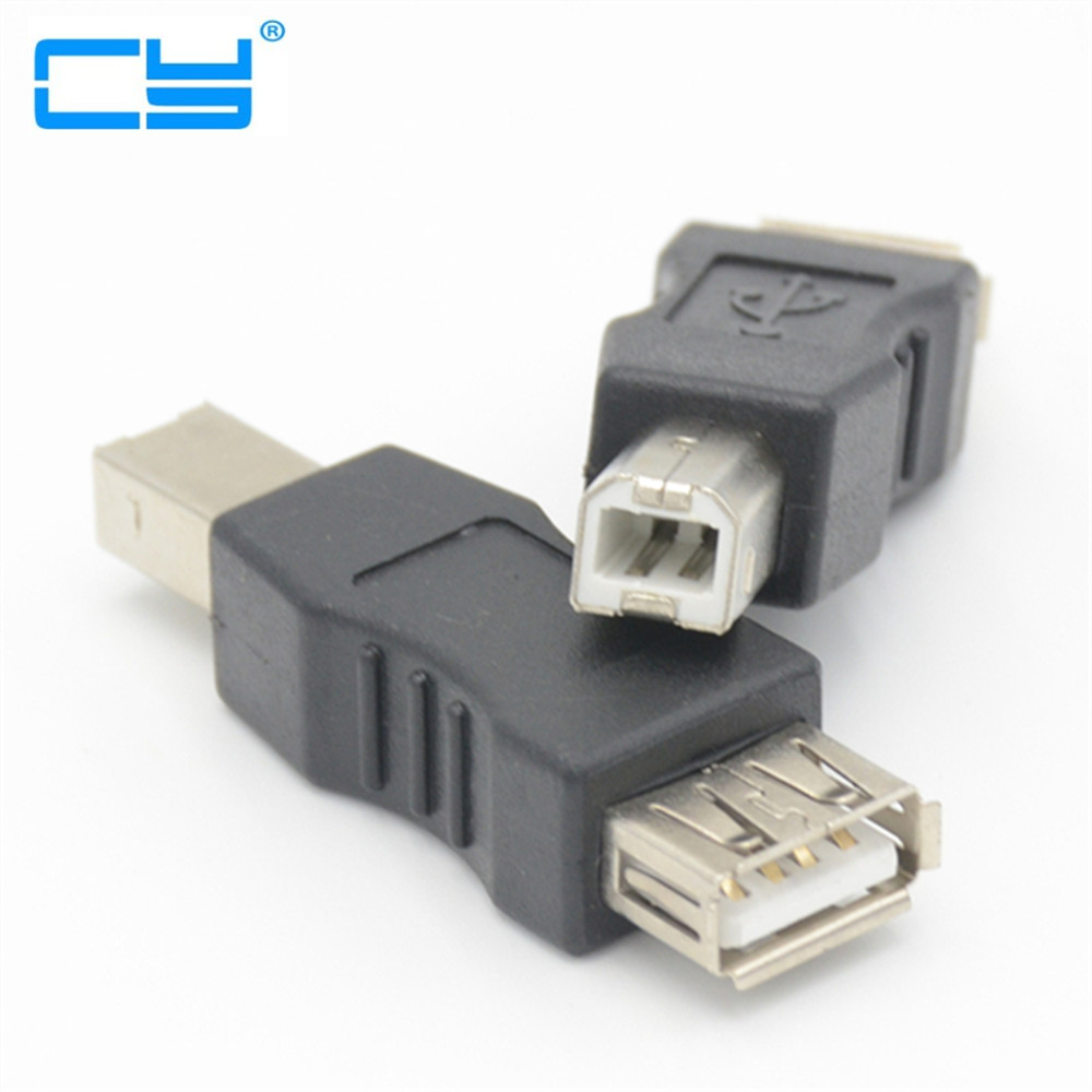 USB 2.0 A Type Female To USB B Type Male USB-B Printer Scanner Adapter Black