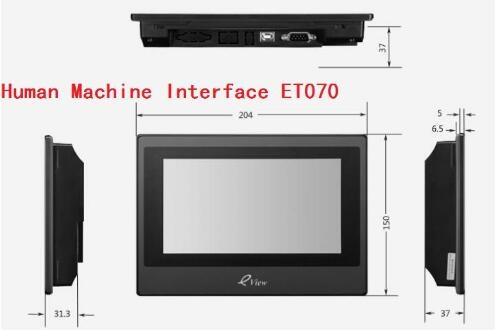 Industrial HMI Human Machine Interface Kinco eView ET070 7 inch touch screen panel pws6700t p 7 5 inch hitech hmi pws6700t p update to pws6710t p touch screen panel human machine interface fast shipping