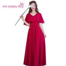 04b60c72c39e5 long dark red vestidos longos burgundy wine crimson colored formal  beautiful bridesmaid dresses bridesmaids dress H4161