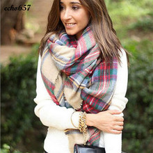 New Fashion Hot Sale Scarves Echo657 New Style Women Scarf Wrap Shawl Plaid Cozy Checked Lady Blanket Oversized Tartan Dec 27