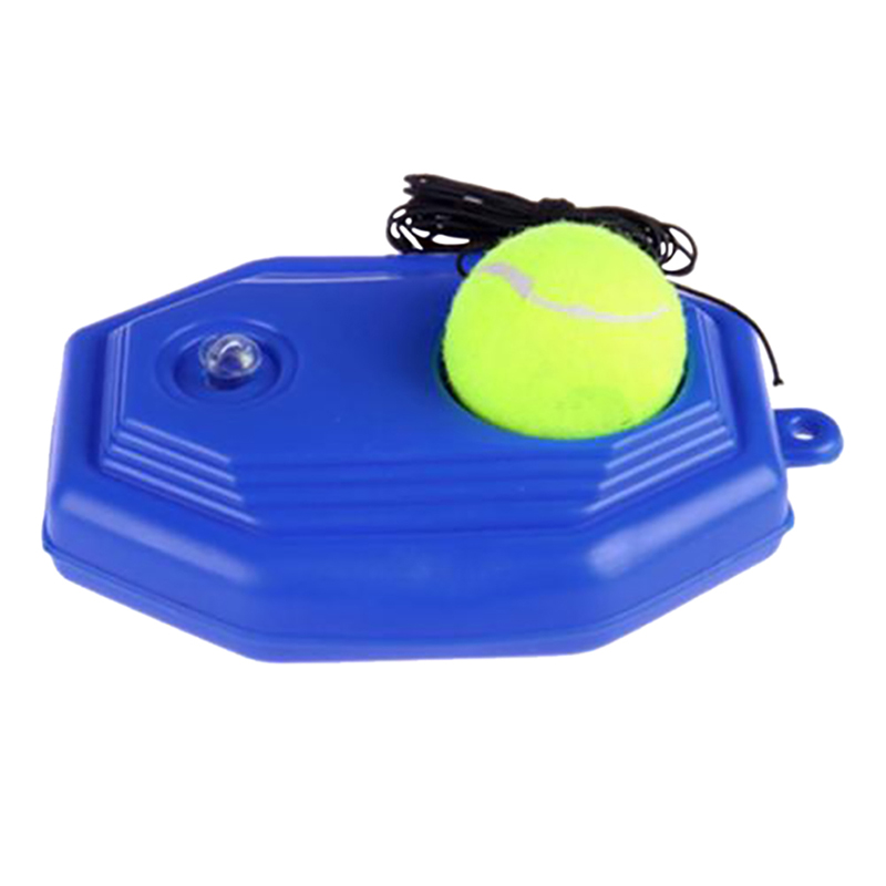 1pc Tennis Ball Trainer Self-study Baseboard Player Training Aids Practice Tool Supply With Elastic Rope Base