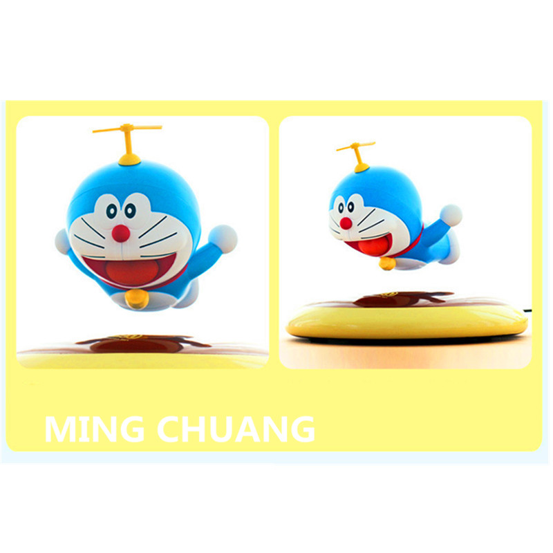 Electromagnetic levitation Doraemon Nobitas friend ABS Action Figure Collectible Model Toy with tetail box 7CM Q87