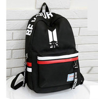 2019 new casual for boys backpack Korean army bomb students female fashion trend kpop school bag teenager large capacity girl