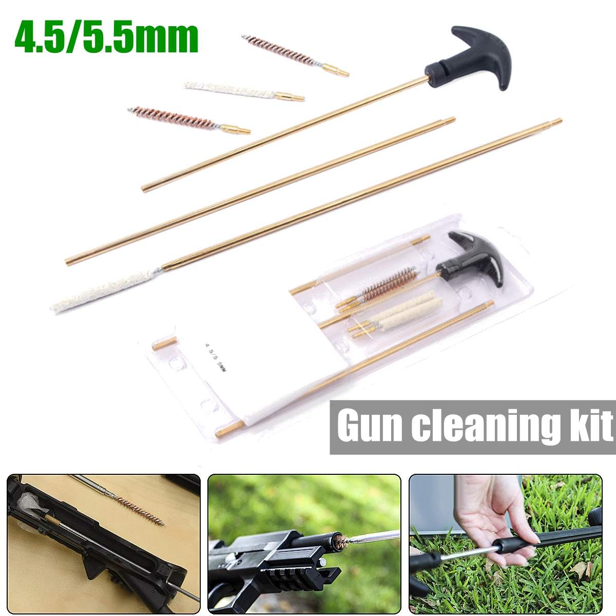 4.5/5.5mm cleaning kit tube brusher Hunting G un Cleaning Kit Rifle Cleaner Convenient Rilfe Accessories Durable