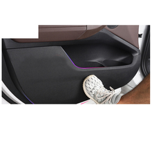 цена на Lsrtw2017 Fiber Leather Car Inner Door Anti Kick Mat for Bmw X3 2011 2012 2013 2014 2015 2016 2017 2018 2019 2020