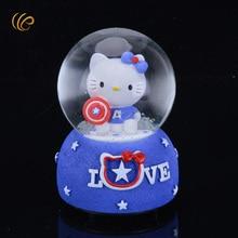 Gute Qualität Hallo Kitty Spieluhr Weihnachten Kristall Box Urlaub Beste Souvenirs für Schreibtisch Dekor und Mädchen Freund der beste Geschenke
