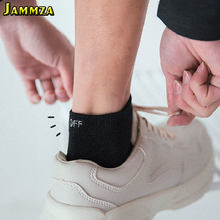 3Pairs/Lot Summer Cotton Ankle Socks for Men Harajuku Off Letter Fashion Womens Meias Skateboard Low Invisible Black White Sock