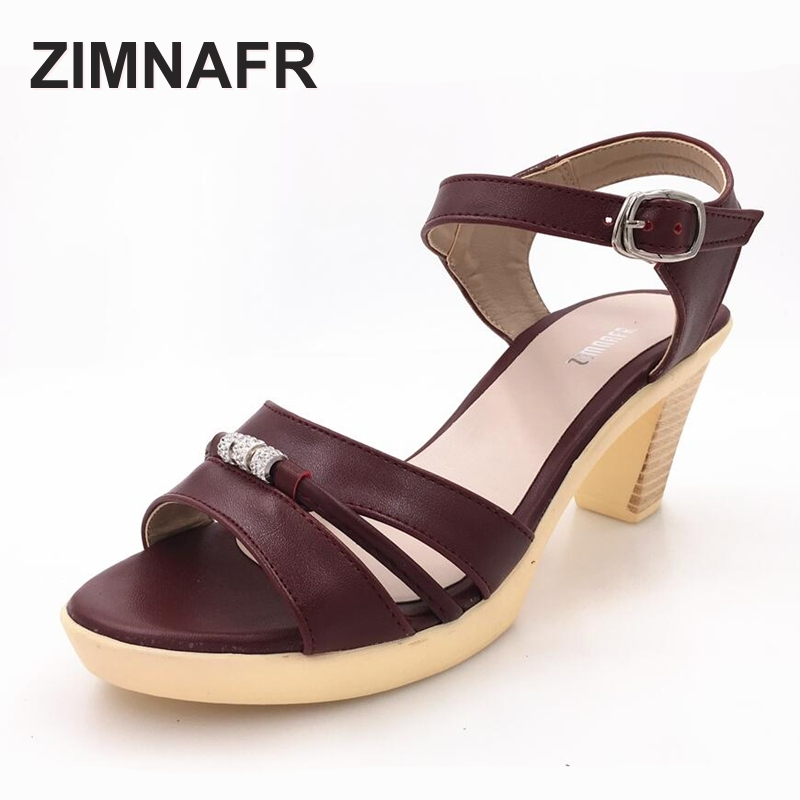 female sandals 2017 Summer new genuin leather thick high heel sandals comfortable sweet comfortable waterproof women's sandals new summer sandal high heel women thick bottom female sandals casual shoes fashion leather sandal comfortable sweet cute woman