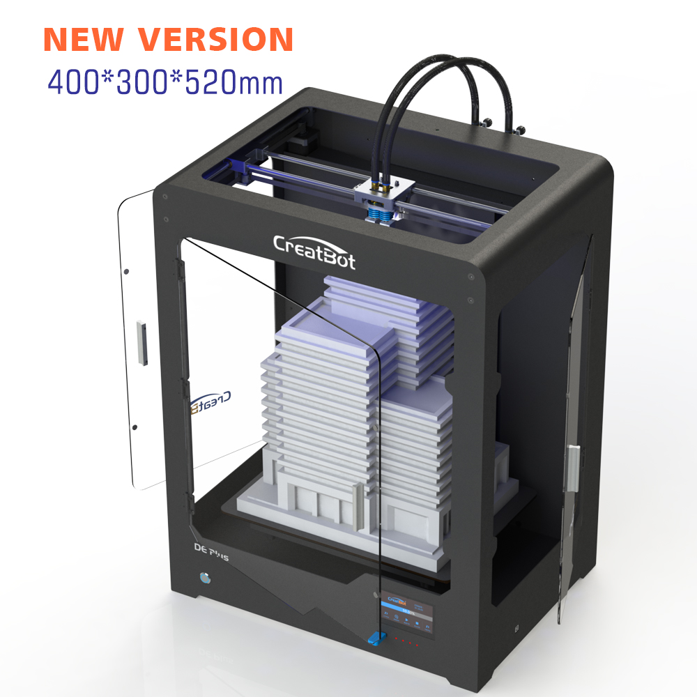 CreatBot-printer 3D DEPlus Dual Extruder 400 * 300 * 520 mm Stor - Kontorelektronik - Foto 4