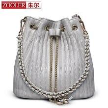 2017 Zooler Bucket bags woman shoulder bag ZOOLER genuine leather bags women messenger bag lady 2017 Classic bolsa Colors #2113