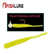 15pcs a lot  Afishlure single tail soft bait 38mm 0.36g root fishing soft bait artificial Lure plastic worm maggot bait