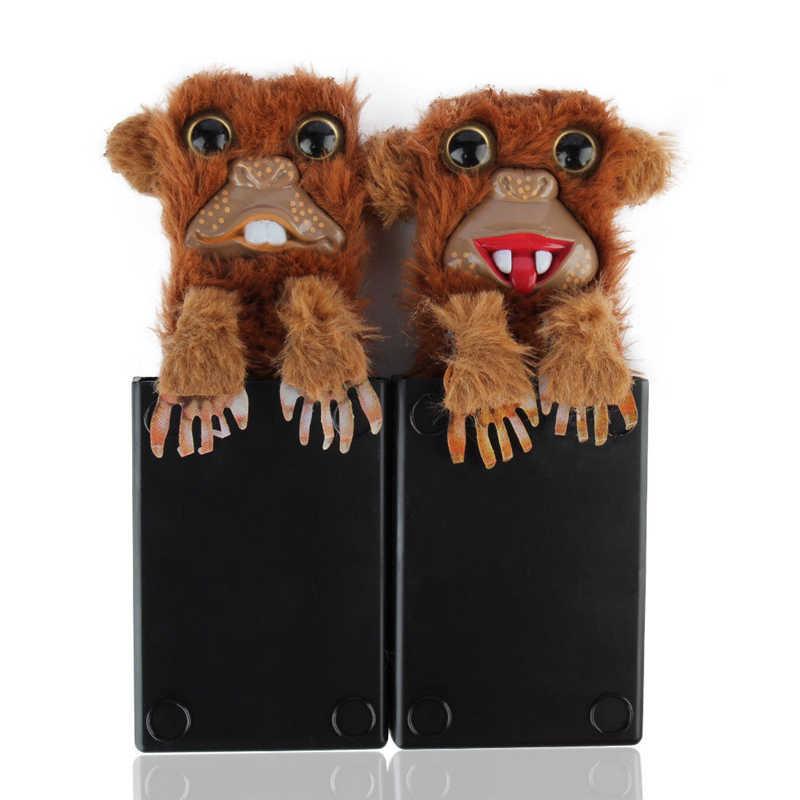 Innovative Sneekums Toy Spoof Monkey Toys Pet Prankster Jitters Fur Plastic Brown Pet Surprise Toys Fur Plastic Finger Toys