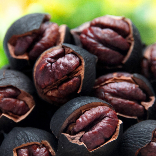 Herb flavor of the nut small walnut black pearl soft-boiled pecornut hand stripping 158g