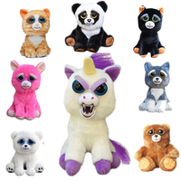 Feisty Pets Change Face Unicorn Plush Toys For Boys With Funny Expression Stuffed Animal Dolls Christmas