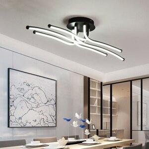 Image 3 - Đèn LED Hiện Đại Trần Cà Phê Sáng Tạo Sự Tối Giản Đèn Cho Phòng Khách Phòng Ngủ Nhà Chiếu Sáng Trang Trí Nhôm Ốp Trần