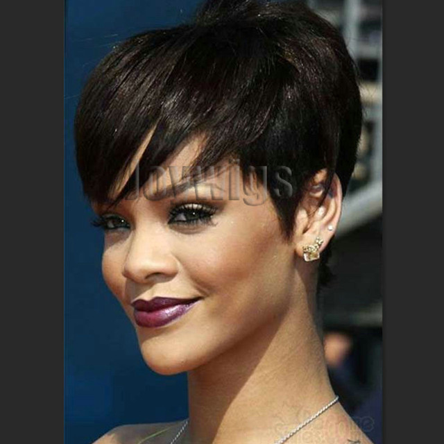 2016 new short hairstyles with bangs for black women Glueless non ...