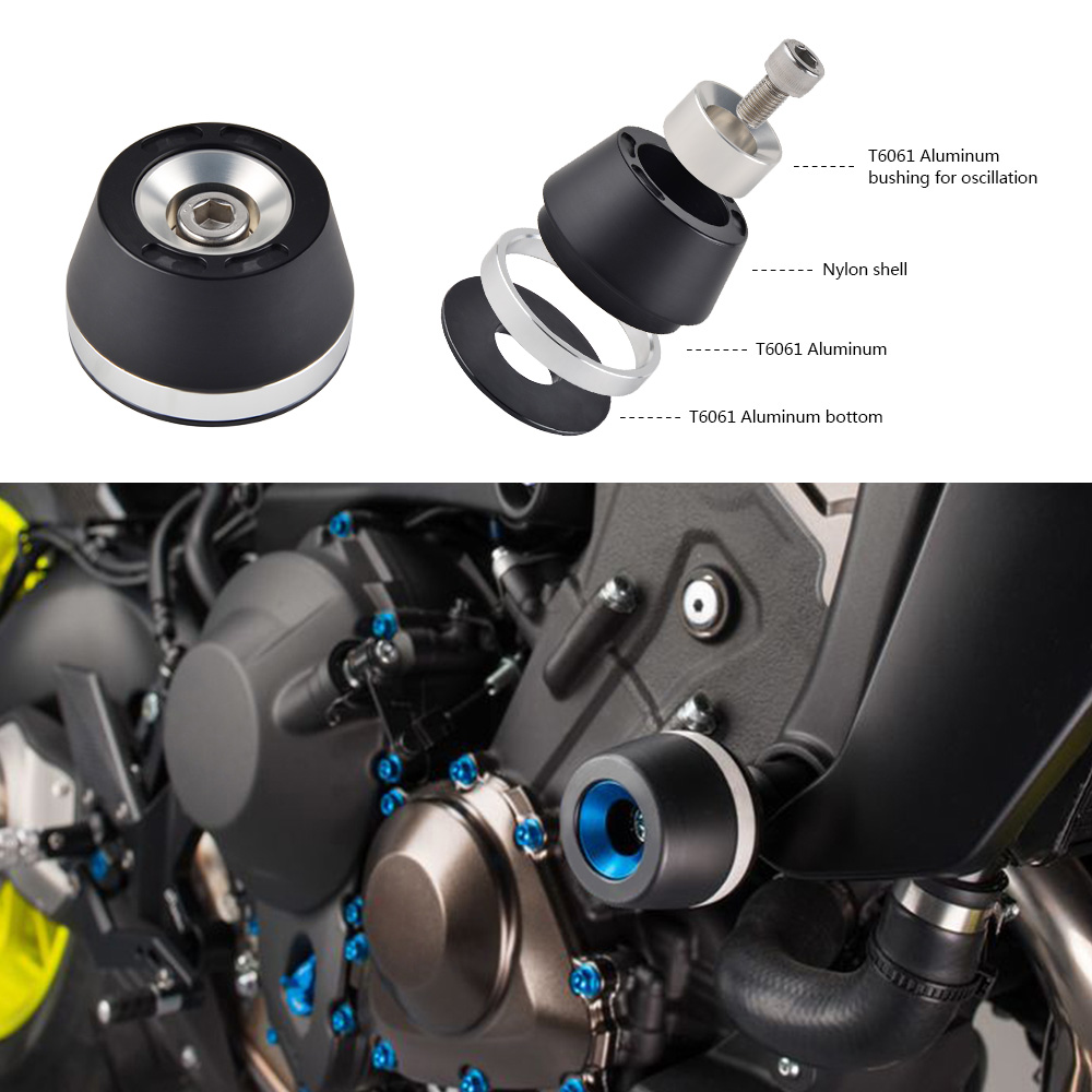 Image 4 - Motorcycle Crash Frame Pads Slider Falling Protector Guard For Yamaha MT07 MT 07 FZ07 FZ 07 XSR 700 Tracer 700 14 2016 2017 2018-in Falling Protection from Automobiles & Motorcycles