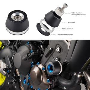 Image 4 - Motorcycle Crash Frame Pads Slider Falling Protector Guard For Yamaha MT07 MT 07 FZ07 FZ 07 XSR 700 Tracer 700 14 2016 2017 2018