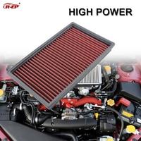 R-EP Alta Potência Substituição Do Painel Filtro de Ar Fits para Subaru Forester Outback Impreza WRX STI OEM 16546AA020 Lavável Reutilizável