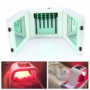 Image 2 - Máquina de fotones de rejuvenecimiento para cuidado de la piel con luz LED PDT de 4 colores para rejuvenecimiento de la piel removedor de acné cuerpo Facial antiarrugas