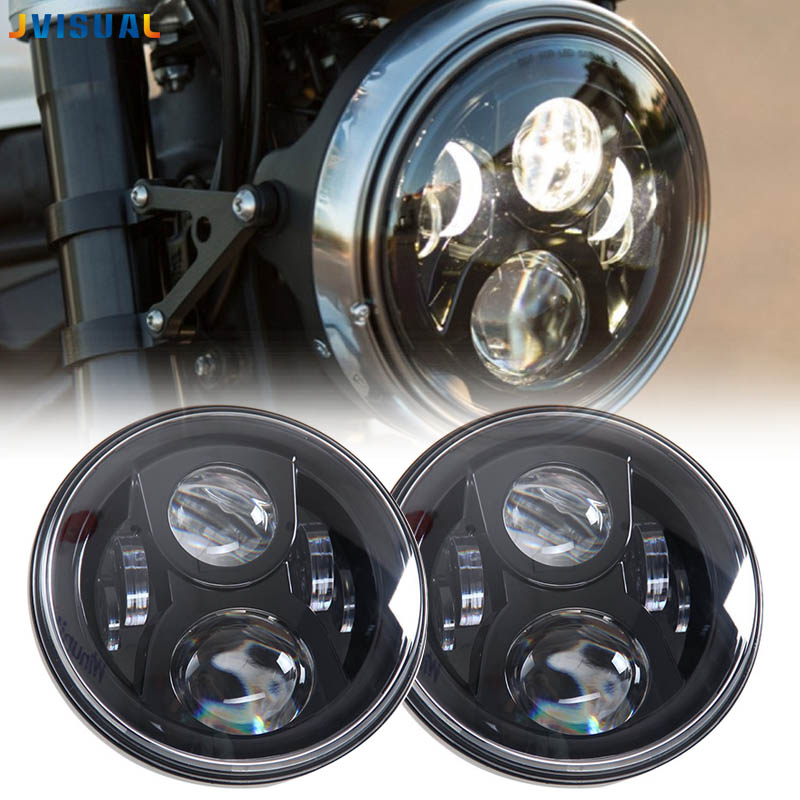 For harley Touring 7 h4 led plug and play motorcycle headlight projection daymaker style lighting replacement for Street Glide 7inch motorcycle daymaker replacement led headlight