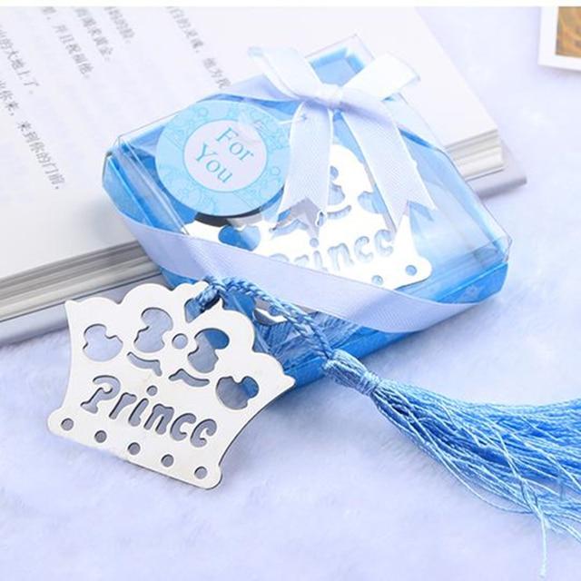 10PCSSET Prince Crown Bookmarks Wedding Birthday Baby Shower Favor