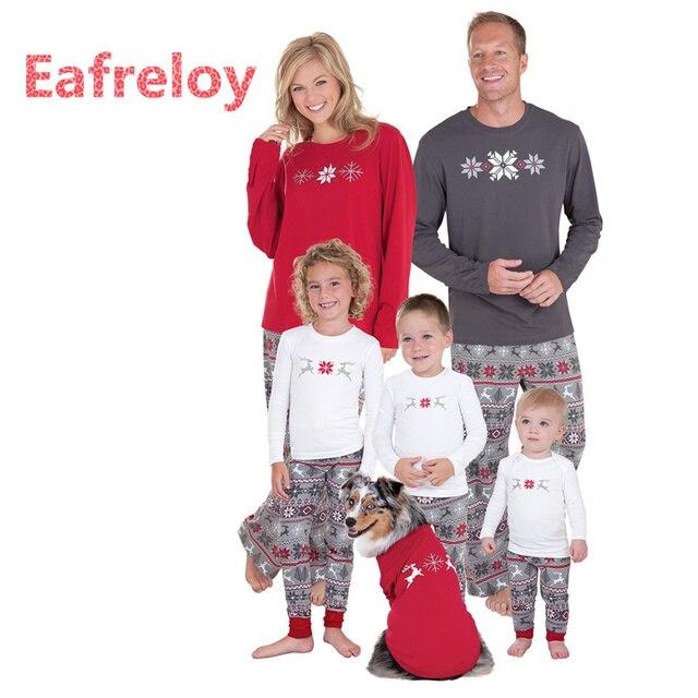 Familia Navidad Pijamas Familia Juego Ropa Madre Hija 2017 Moda