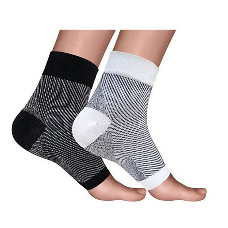 Unisex Women Foot Angel Anti Fatigue Arch Heel Plantar Relief Compression Socks Support Exercise Sport Sock