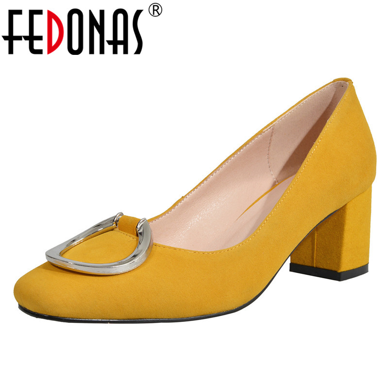 FEDONAS 2019 New Women High Quality High Heels Pumps Sexy Pointed Toe Party Wedding Shoes Woman