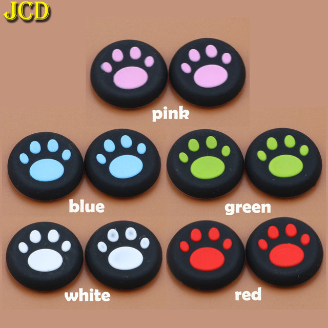 JCD 2pcs 실리콘 아날로그 조이스틱 그립 캡 Sony PlayStation 4 PS4 컨트롤러 고양이 클로 조이스틱 커버