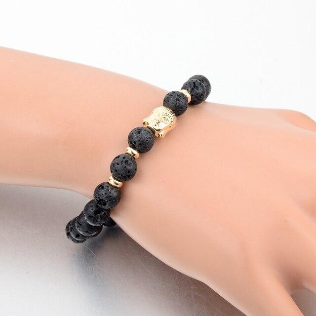 Купить женский и мужской браслет с бусинами chicvie черный будда золотого картинки