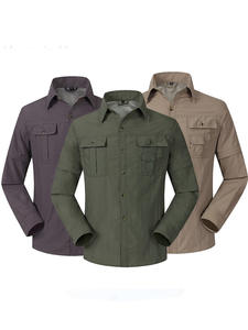 Mountainskin Shirts Clothing Trekking Outdoor Quick-Dry Sports Breathable Summer Male