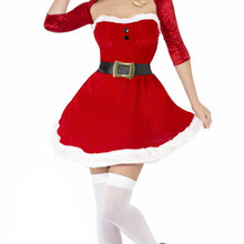 ce81fdb77fe Women Christmas Costumes Sexy Cute Red Xmas Cosplay Uniform Santa Claus  Cosplay Fancy Dress(China