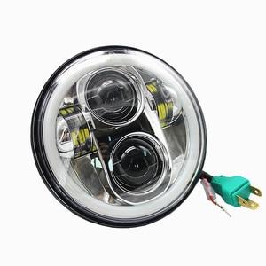 """Image 2 - 5 3/4 """"5.75 pouces Moto Moto projecteur LED plein Halo phare pour Dyna Sportster Softail"""