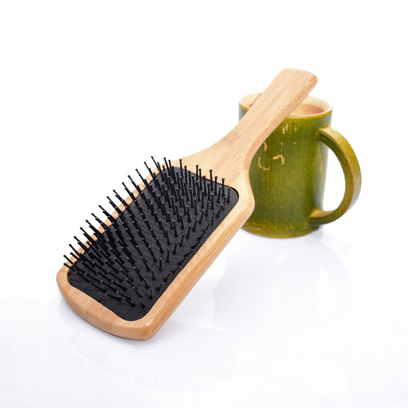 New arrival SY15D5 Bamboo Wooden Combs Paddle Brush Wooden Hair Care Spa Massage Antistatic Comb