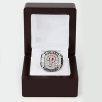 Free Shipping 2008 Philadelphia Phillies MLB World Series Baseball Championship Ring With High Quality Wooden Box
