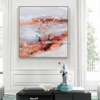 Nordic painting on Canvas wall art pictures for living room home decor abstract hand painted quadros art cuadros decoracion0001