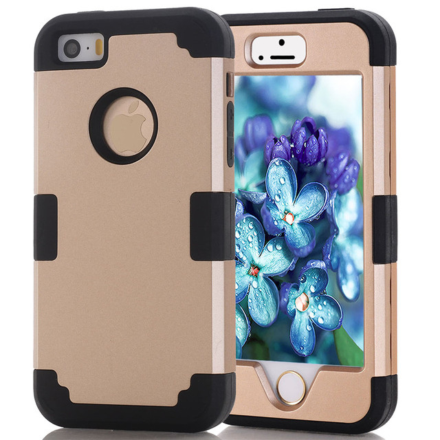 size 40 122e6 b31e5 US $2.69 30% OFF|For Apple iPhone 7 4.7 Case Shockproof Protect Hybrid Hard  Rubber Impact Armor Phone Cases For iPhone 5/5S/5C/SE/6/6S Plus/Cover-in ...