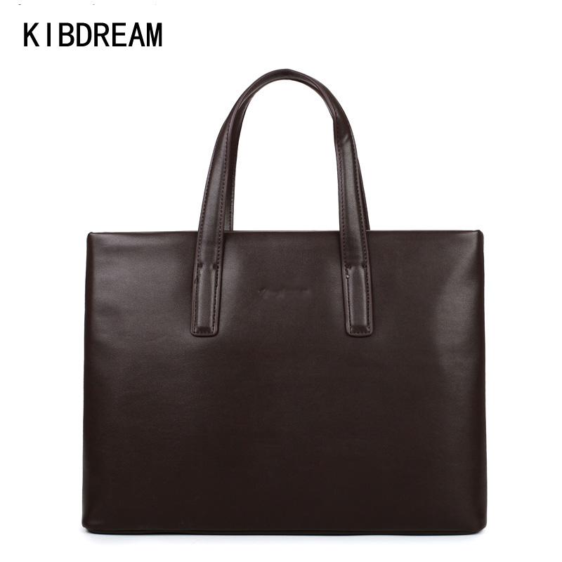 KIBDREAM Pure Men Casual Briefcase Business Shoulder Bag/Pu Leather Messenger Bags Computer Laptop Handbag Bag Free Shipping kundui 2016 new hot sale pu multi pocket men business briefcase handbag man shoulder messenger bag laptop bags free shipping