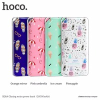 HOCO 10000MAH Mobile External Power Bank Colorful Floral Printed 2 USB Ports Output Battery Charger For