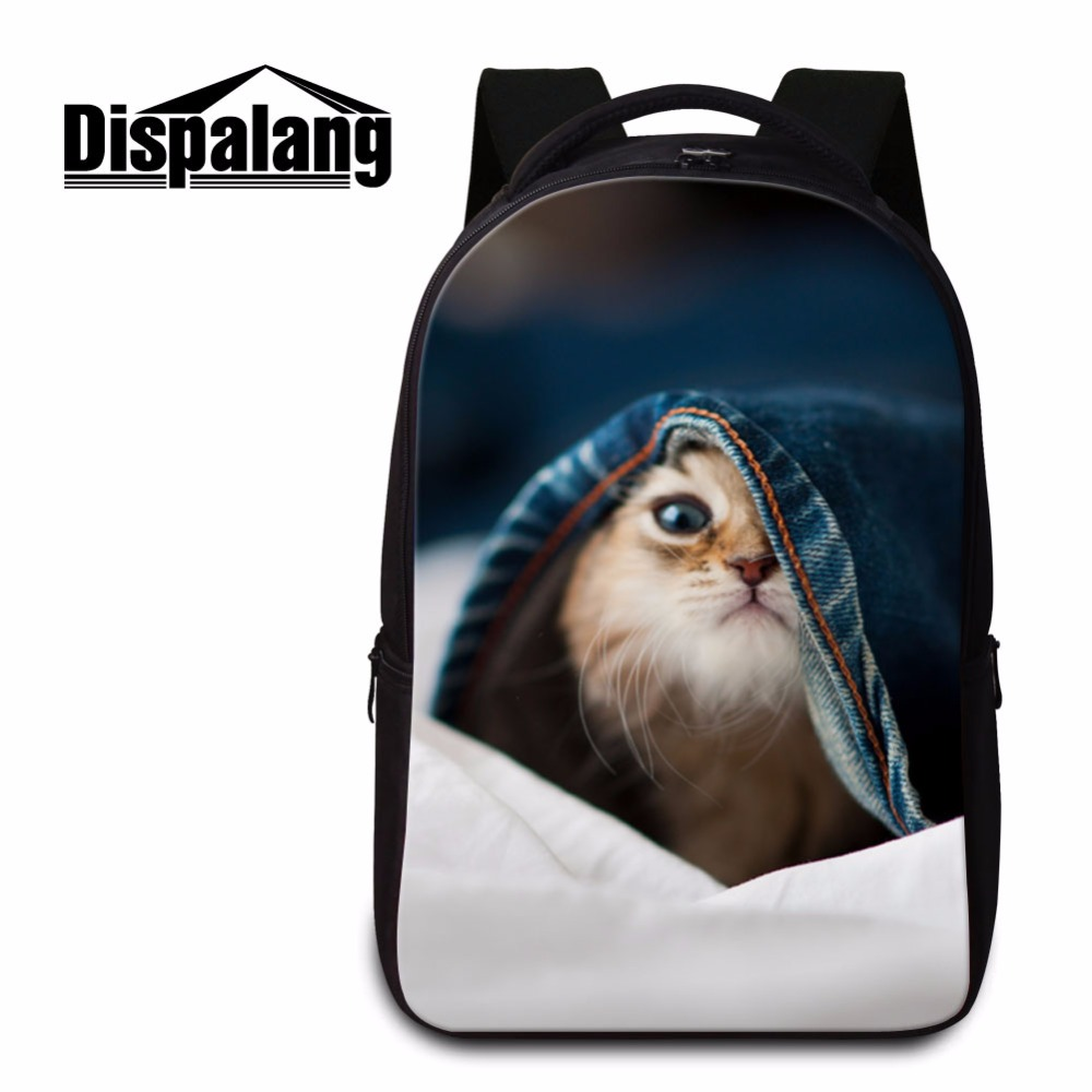 Dispalang かわいい猫パターンクールなラップトップバッグ旅行のバックパック大ブックバッグコンピュータパッケージ多機能バッグ  グループ上の スーツケース & バッグ からの バックパック の中 1