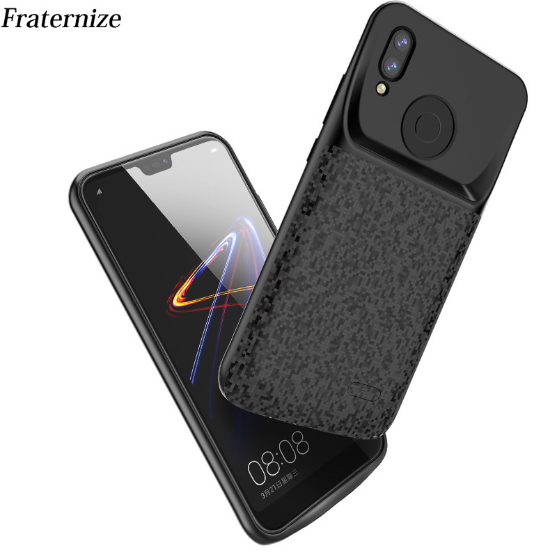 Silm Silicone Shockproof Power Bank Case For Huawei P20 Lite Nova 3E Battery Charger Case External Powerbank Charger Cover Capa