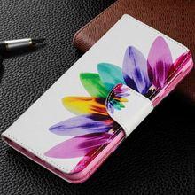 купить For Motorola Moto G4 G5 G5S G6 Plus 2018 G2 Fashion Leather Wallet Stand Case Cute Sunflower Butterflies Luxury Flip Cover P07Z дешево