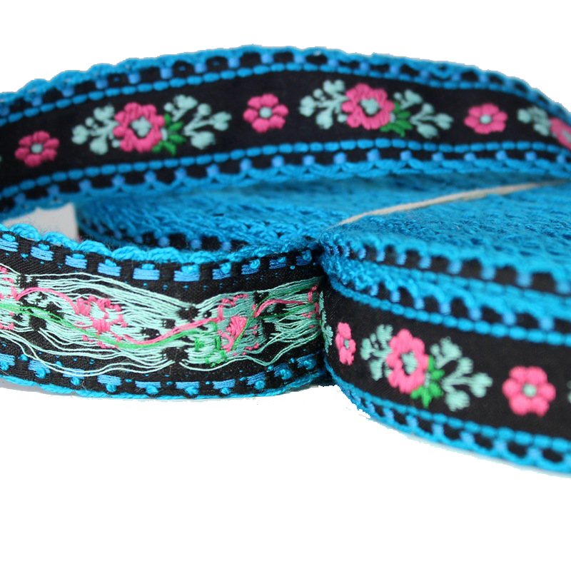 "2yard/pack jacquard ribbon 3cm/1.2"" Democratic style Computer embroidery ribbon Dance belt sewing ribbon T-083"