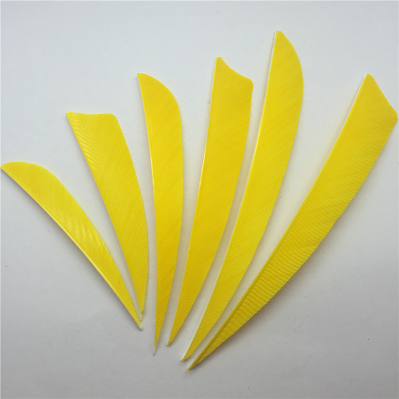 ONTFIHS 50pcs 3 quot 4 quot 5 quot Yellow Hunting Arrow Feathers Real Turkey Feather Archery Arrow Accessories Fletching Feathers FT61 in Bow amp Arrow from Sports amp Entertainment