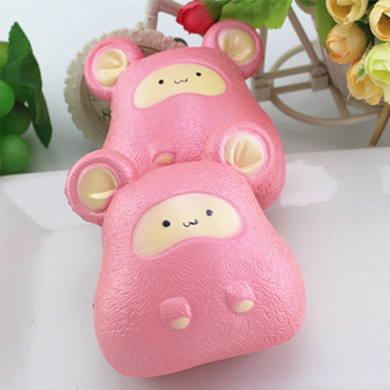 11CM Cartoon Pink Mouse Squishy Slow Rising Squeeze Straps DIY Decoration Decompression Toys New Year Gifts Kids Fun Gift P15