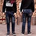 2017 детская одежда Колледж ветер брюки ребенка и мальчика Весна и Осень джинсы