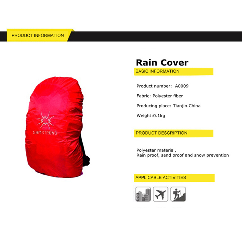 Samstrong Waterproof Rain Cover Backpack Outdoor Mud Dust Cover Bag Climbing Hiking Travel Kits Suit For 20L 35L 50L 70L in Sport Bags Covers from Sports Entertainment