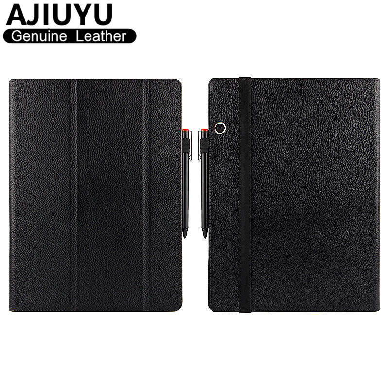 Genuine Leather For Lenovo Miix 720 Case Cover Ideapad MIIX720 Protective Smart Tablet Miix 5 Pro Case Protector Sleeve Cowhide ynmiwei for miix 320 leather case full body protect cover for lenovo ideapad miix 320 10 1 tablet pc keyboard cover case film
